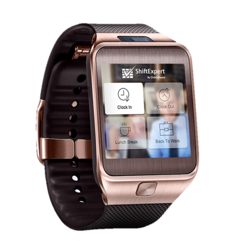 Salesforce.com partner ClickSoftware has created this wearable app that employees can use to track their shifts.