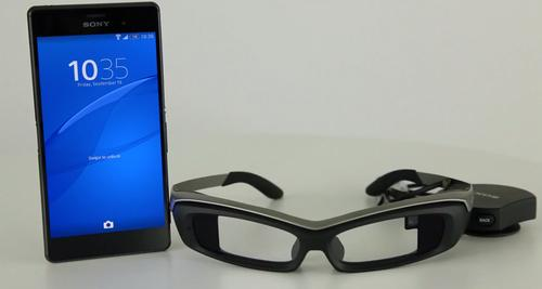 Sony's SmartEyeglass head-mounted display