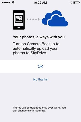 Microsoft has updated its SkyDrive app for iOS with better photo management features