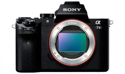 The Sony a7 II digital camera features image stabilization along five axes as well as a full-frame image sensor.