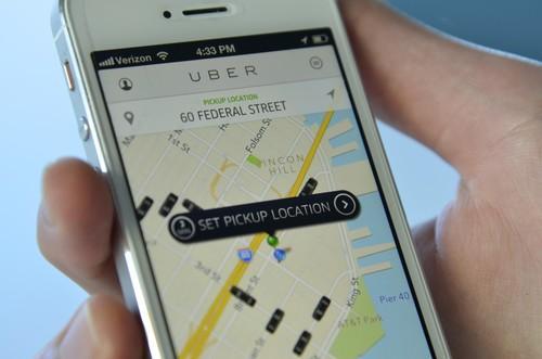 Uber's mobile app.
