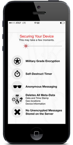 Wickr's app offers a range of security features.