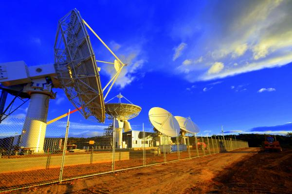 A satellite ground station in Wolumla, NSW