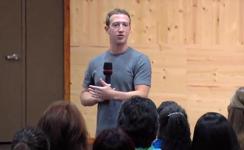 Facebook CEO Mark Zuckerberg, pictured Nov. 6, 2014, during a public Q&A at the company's headquarters in California.