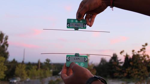 Researchers demonstrate how one payment card can transfer funds to another card by leveraging the existing wireless signals around them. Ambient RF signals are both the power source and the communication medium.
