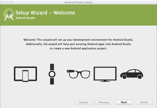 Android Studio's installation wizard highlights what Google's hope for the IDE is.