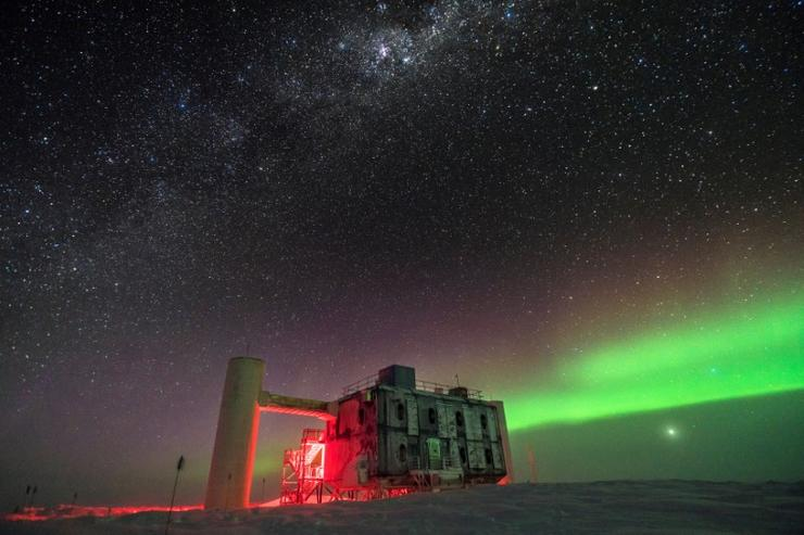 The IceCube Laboratory is pictured at the Amundsen-Scott South Pole Station, in Antarctica, in 2017 and released on July 12, 2018. Courtesy Martin Wolf, IceCube/NSF/Handout via REUTERS