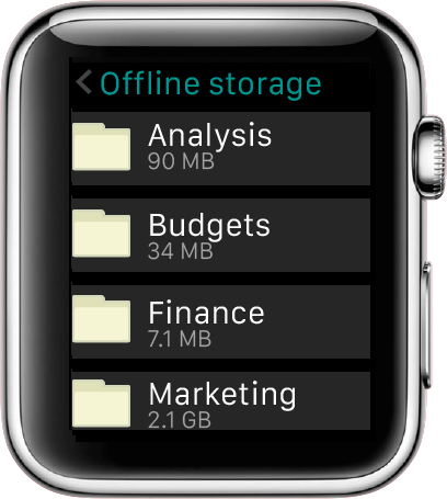 Egnyte for Apple Watch