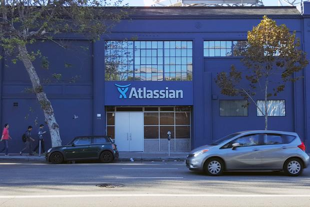 A car drives past Atlassian's San Francisco offices on Oct. 30, 2015. Credit: Martyn Williams