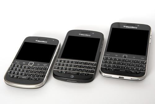 The BlackBerry Bold 9900, BlackBerry Q10 and BlackBerry Classic