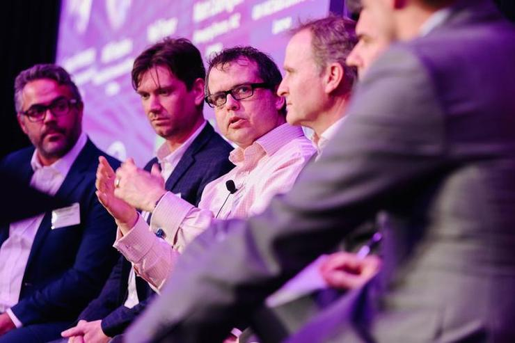 Lendlease's Ciaran Hennessy (centre): Uses multiple methods from internal digital literacy uplift to talking about digital technology at board level to help build the right culture.