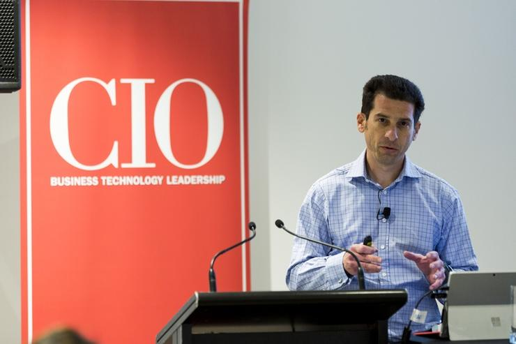 Ron Shpilman, senior solution consultant at ClickSoftware, talks about the principles of the digital workforce (Photo by Jason Creaghan)