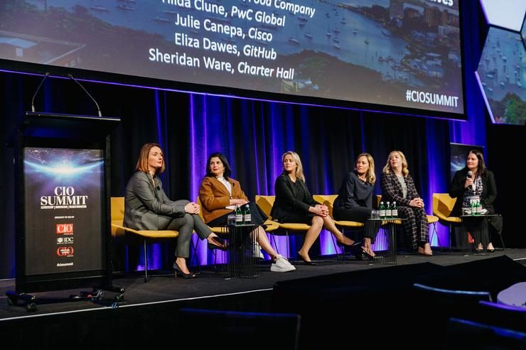 Women in IT panel at the CIO Summit