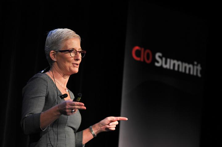 Baxter Healthcare IT director, Marise Hannaford, talks business intelligence at the CIO Summit. Credit: Ian Sharpe