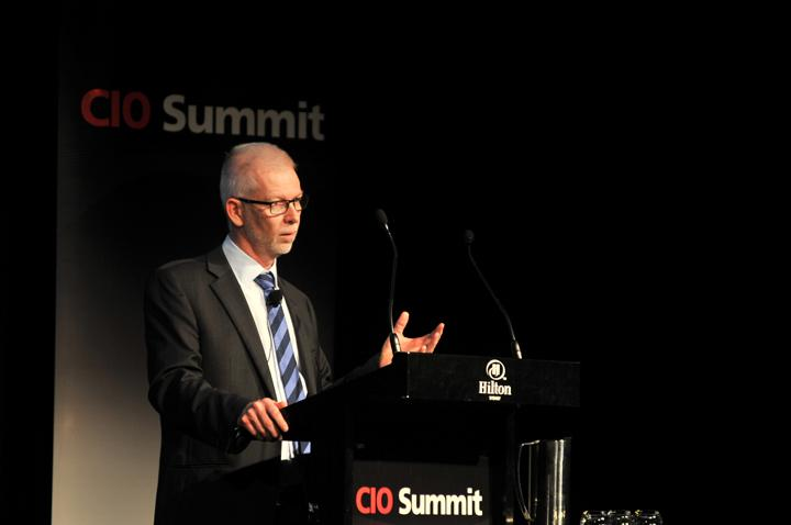IRESS chief operating officer, Steve Barnes, addresses the CIO Summit. Credit: Ian Sharpe