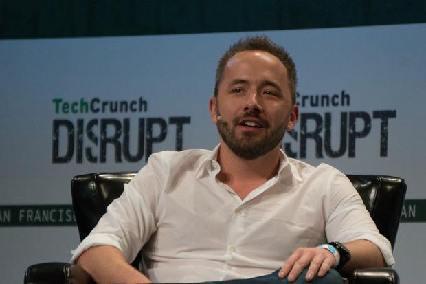 Dropbox CEO Drew Houston speaks at TechCrunch Disrupt in San Francisco on Sept. 21, 2015 Credit: Blair Hanley Frank