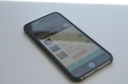 Microsoft's Tossup app running on an iPhone 6