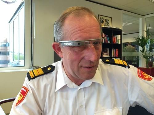Amsterdam-Amstelland Fire Commander Elie van Strien wearing Google Glass