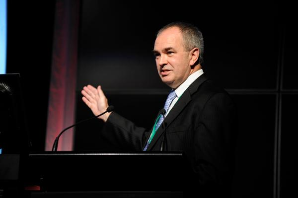 Glenn Archer announcing the Australian government's big data strategy at the Australian Information Industry Association (AIIA) summit in Canberra last March.