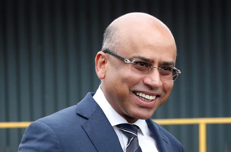 Sanjeev Gupta outside a newly acquired Liberty Steel processing mill in Dalzell, Scotland, Britain April 8, 2016. REUTERS/Russell Cheyne
