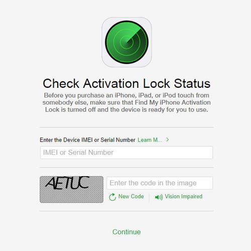 Apple online tool allows users to check the Activation Lock status of iOS devices