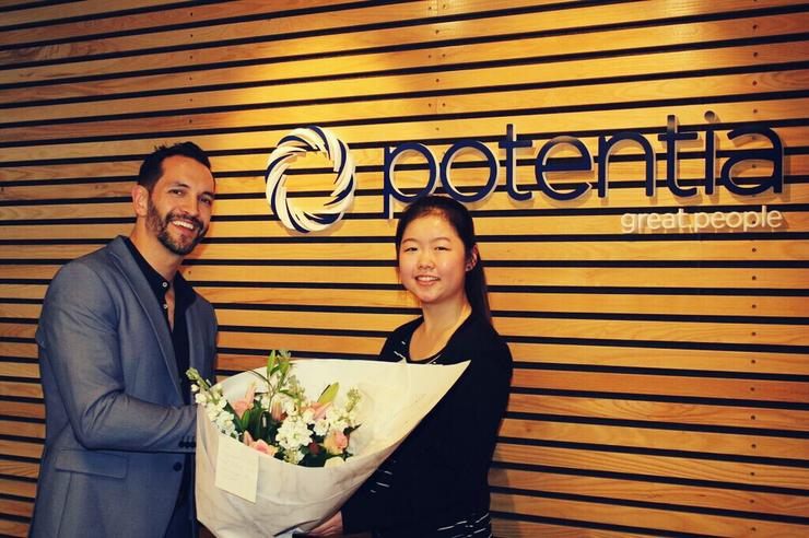 Potentia managing director Nathan Bryant-Taukiri and Ena Sun of the University of Auckland