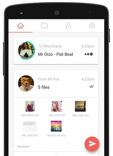 Infinit's Android app can share content with other Android-based devices, Macs, PCs, iPhones and iPads.