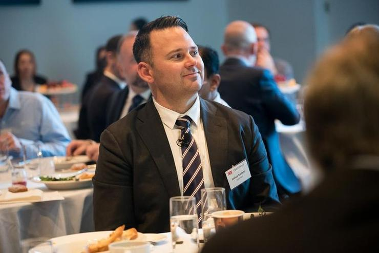 Joshua Bartlett at the information governance in a digital world breakfast held in Sydney.