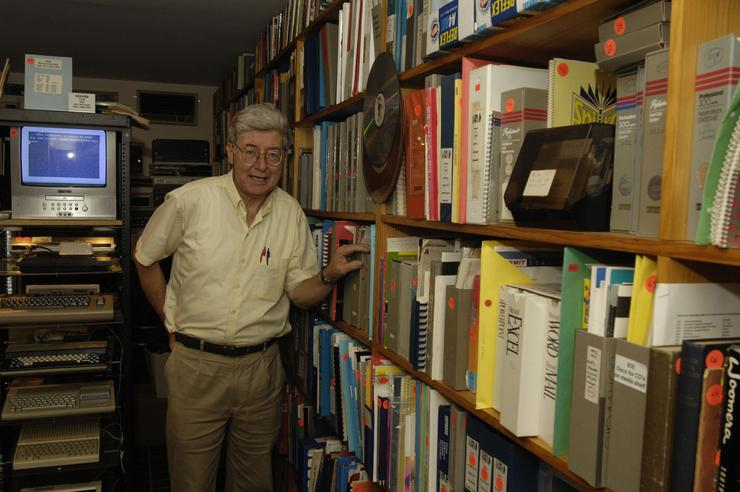 Max Burnet's house is arguably home to Australia's largest private computer collection