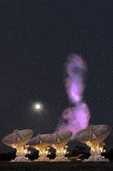 Image credit – Ilana Feain, Tim Cornwell & Ron Ekers (CSIRO/ATNF). ATCA northern middle lobe pointing courtesy R. Morganti (ASTRON), Parkes data courtesy N. Junkes (MPIfR). Photo of the ATCA and Moon: Shaun Amy, CSIRO.