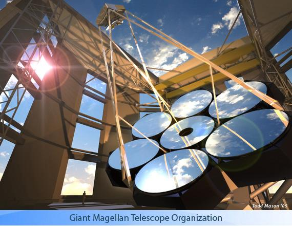The Giant Magellan Telescope (GMT). When complete in 2018, it will produce images up to 10 times sharper than the Hubble Space Telescope. Credit: Giant Magellan Telescope - Carnegie Observatories.