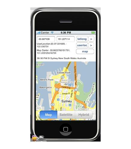 Craig Dunn's MonoTouch MapKit iPhone application
