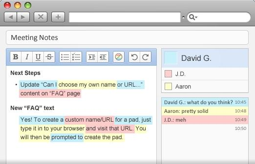 EtherPad, a Web-based word processor that does real-time collaboration