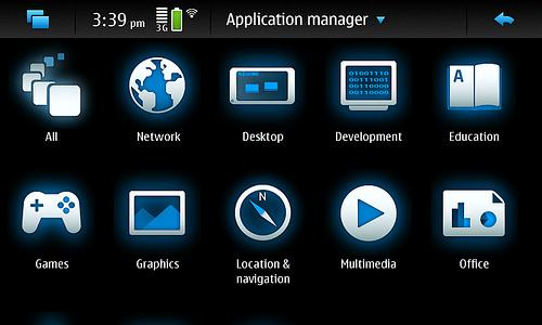 The N900 gets new application icons