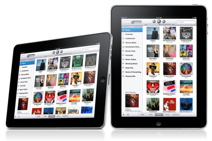 The iPod app on Apple's iPad