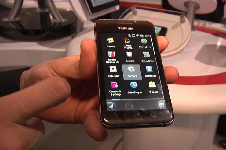 Toshiba's TG02 smartphone