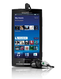 The Sony Ericsson Xperia X10 with integrated BigPond Music