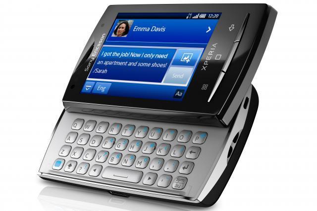 Sony Ericsson's tiny XPERIA X10 Mini Pro smartphone.