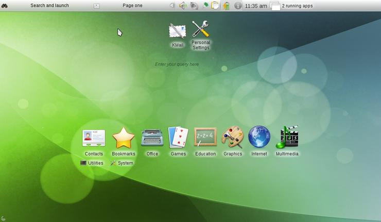 OpenSUSE 11.3 ships KDE Netbook Workspace