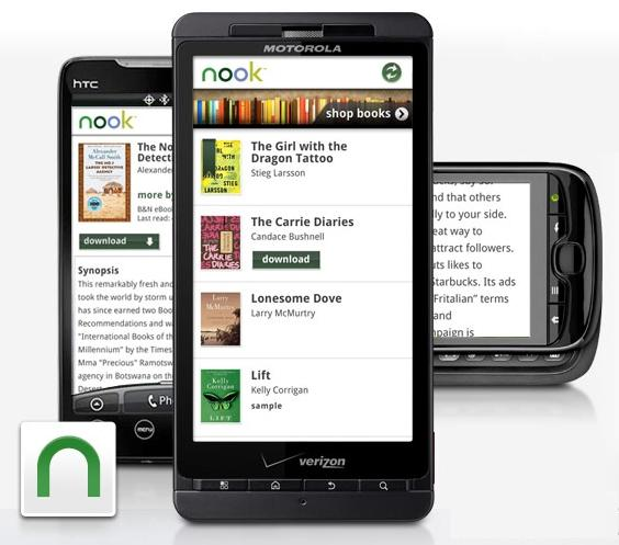 The nook e-book reader for Android is available from the Android Market