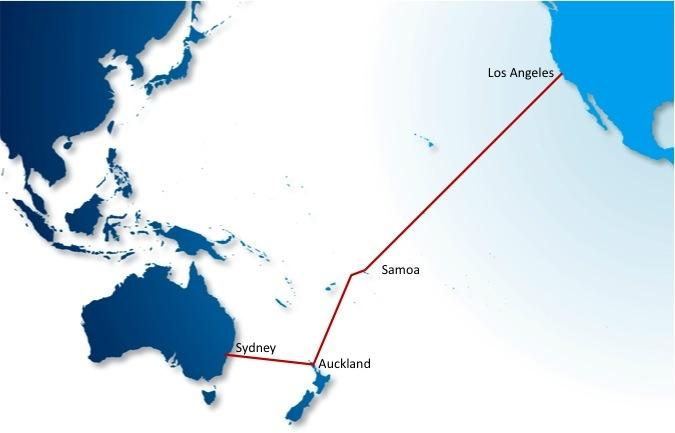 The Pacificc Fibre undersea cable will connect Australia, New Zealand and the US