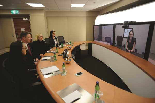 The Sydney telepresence suite at Sheraton on the Park was the first cab off the rank for Starwood Hotels — and the first publicly available suite in the southern hemisphere. It uses Cisco technology and the hotel partnered with its communications provider, Telstra, and Tata Communications.