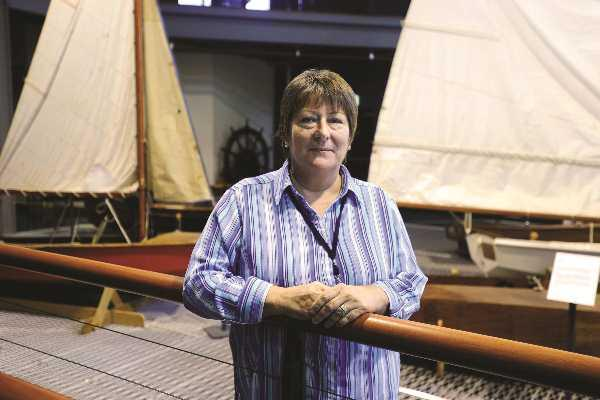 The museum's head of information services, Karen Holt.