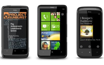 HTC 7 Trophy, HTC 7 HD7, and HTC 7 Mozart