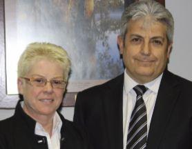 Macanta Consulting director, Karen Ferris, and Deakin CIO, Peter Brusco