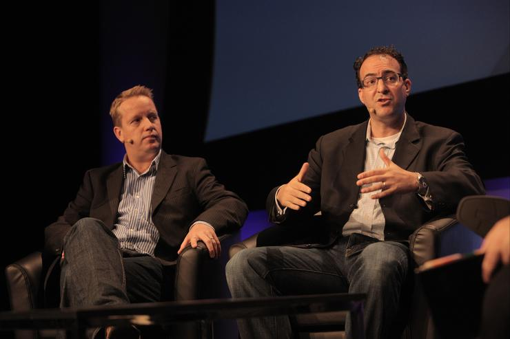 Lonely Planet's director of emerging platforms and innovation, Chris Boden and CEO Matt Goldberg