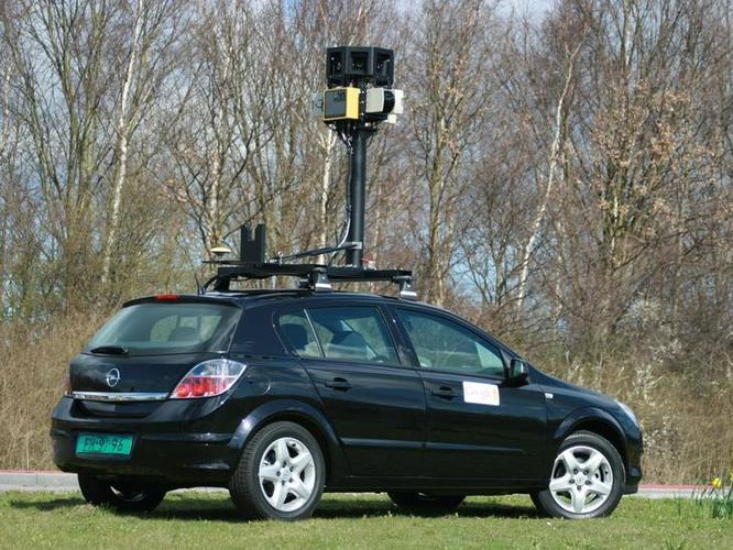 A member of Google's international Street View fleet of cars believed to have intercepted traffic on unsecured wireless networks.