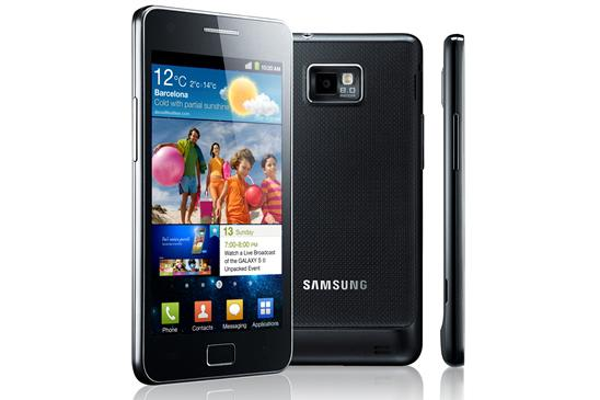 The Android-powered Samsung Galaxy S II smartphone.