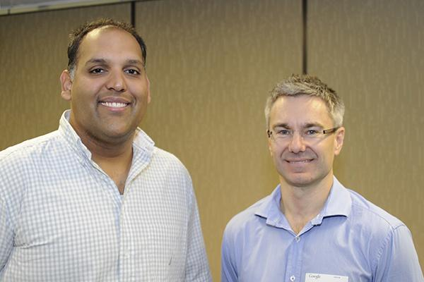 Google Apps product manager for Australia, Anil Sabharwal, and co-founder of Mo's Mobiles, Tim Levy.