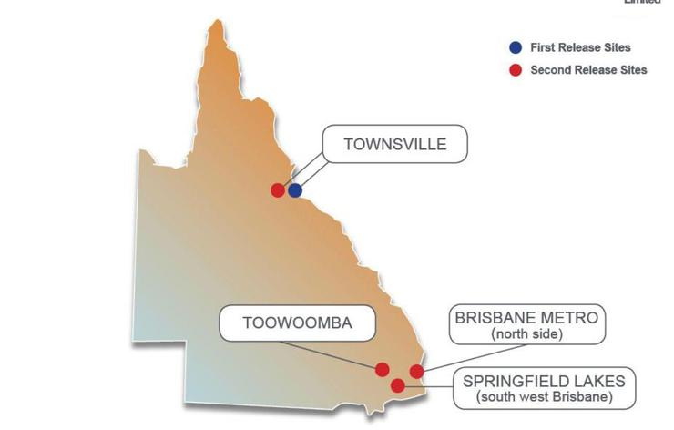 First and second release sites in Qld. <br><br> According to NBN Co, The deal is not impacting progress in first release sites, which are nearing the completion of their construction phase. <br><br> NBN Co has been advising communities with second release sites that both the Telstra deal and the ACCC decision on points of interconnect are now being factored into the timing of future rollouts.